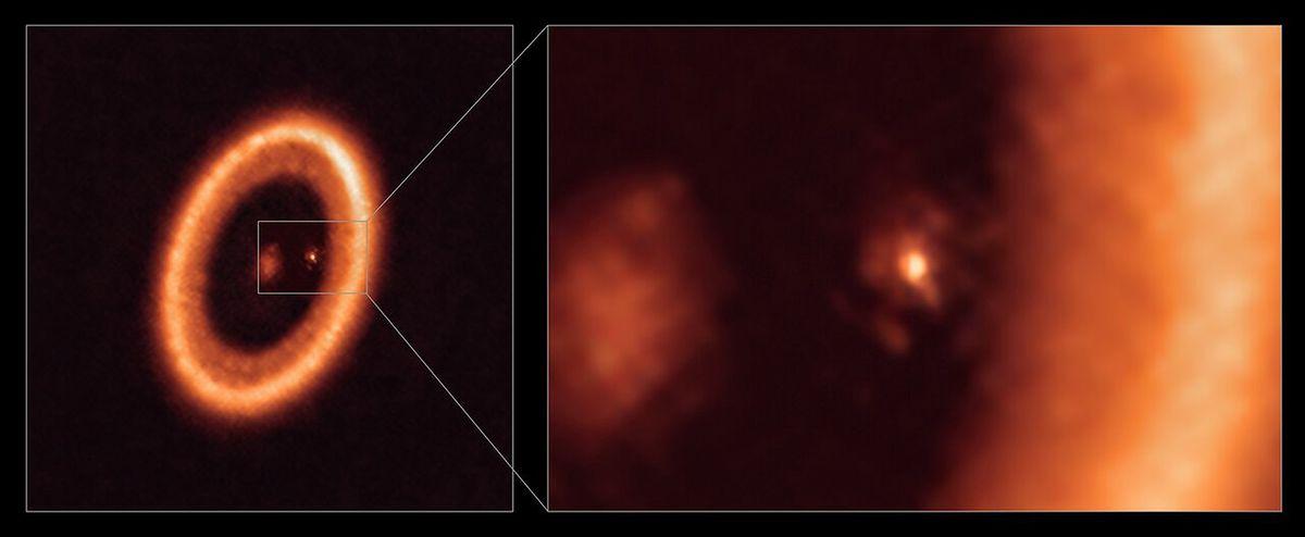 Dysk materii otaczający planetę PDS 70b