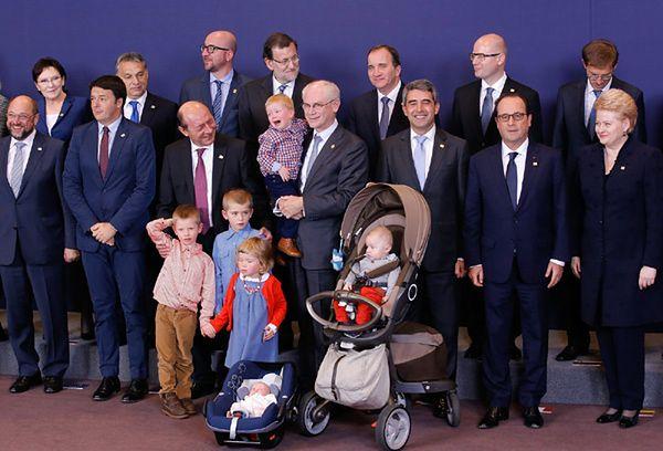 Ludzkie oblicze polityki - wnuki na szczycie UE