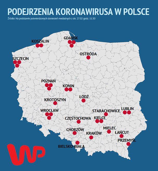 Koronawirus w Polsce niepotwierdzony. Mapa zagrożenia