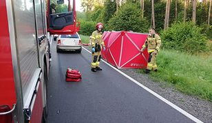 Szczytno. Wypadek na DK58. Nie żyje rowerzystka