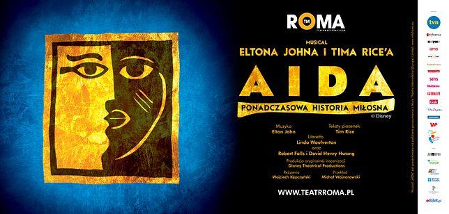 """Oficjalny plakat sztuki """"Aida"""""""