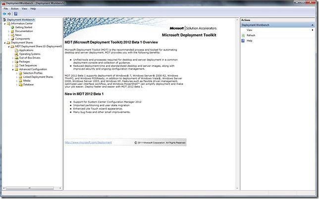 Microsoft Deployment Tool (MDT) 2012 U2