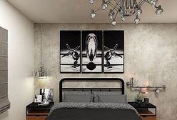 Styl industrialny – sypialnia w kolorach cegły i stali