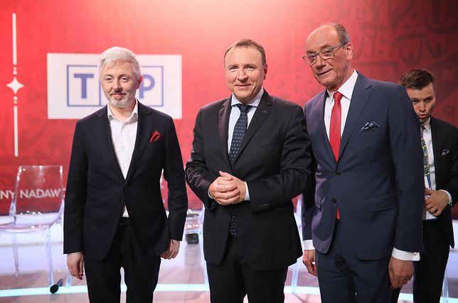 Prezes TVP Jacek Kurski i Dariusz Szpakowski