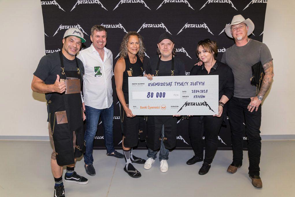 Metallica wspiera Polskie Banki Żywności. Muzycy przekazali 80 tys. złotych
