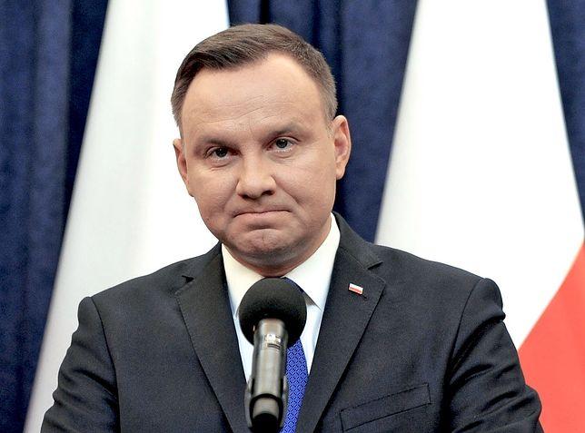 """Andrzej Duda odwiedził rannych z zawalonej kamienicy. """"Sytuacja jest trudna"""""""