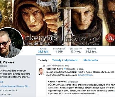 Jacek Piekara opublikował w swoim życiu kilkadziesiąt opowiadań i kilkanaście powieści.