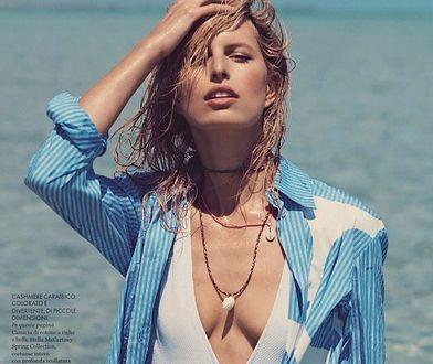 Karolina Kurkova plażuje we włoskim ELLE