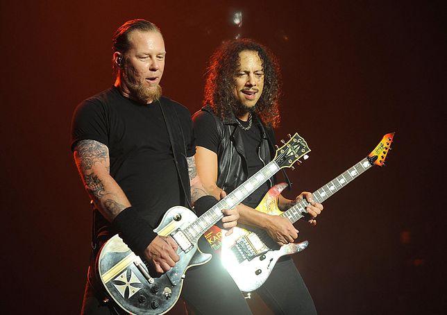 James Hetfield i Lars Ulrich, gitarzyści zespołu Metallica