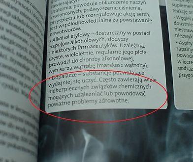"""W podręczniku do chemii pojawiła się """"ciekawa"""" definicja. Może zaszkodzić młodzieży"""