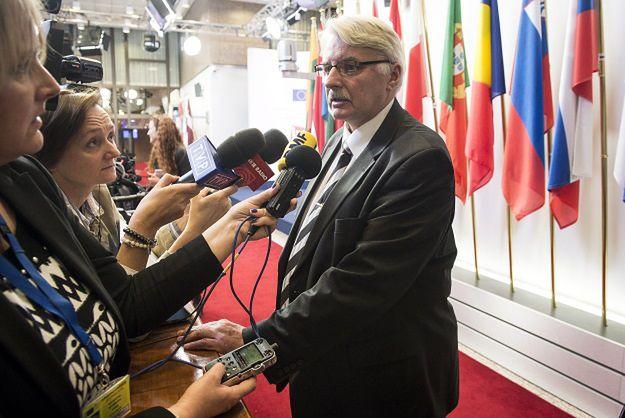 Eksperci oceniają ofensywę medialną Waszczykowskiego