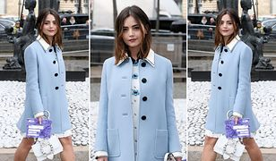 LOOK OF THE DAY: Jenna Coleman w kolorze baby blue