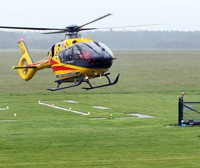 Śmigłowiec LPR zabrał jedną z osób rannych w wypadku na DK 25