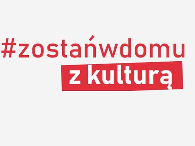 Warszawa. Grafika promująca akcję #zostańwdomu.