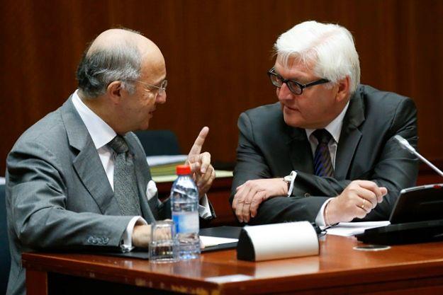 Od lewej: Laurent Fabius i Frank-Walter Steinmeier