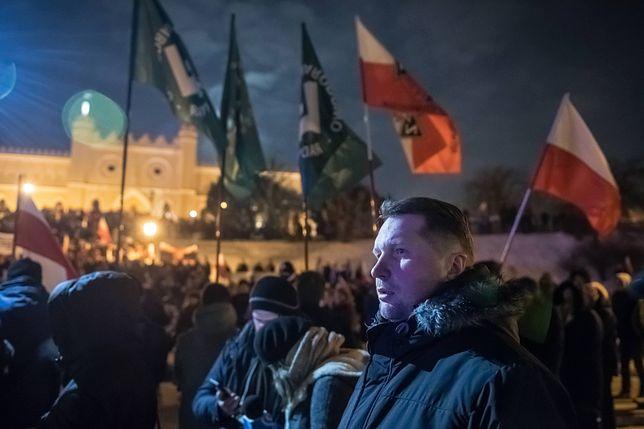 """Wojewoda lubelski na marszu ONR. """"Tak PiS walczy z ultraprawicą"""""""