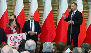 Wiemy, kto zakłócił spotkanie z Andrzejem Dudą. To nastoletni aktywista Greenpeace