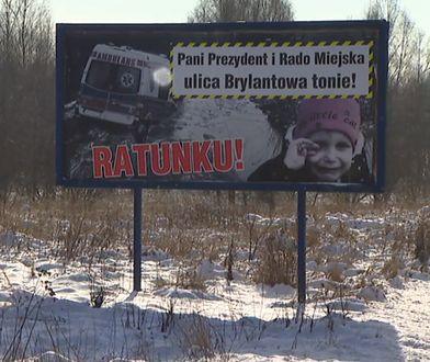 Billboard stanął przy ul. Strykowskiej w Łodzi