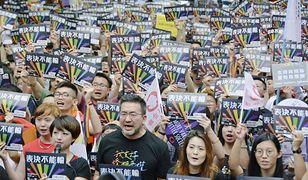 Demonstracja zwolenników legalizacji małżeństw homoseksualnych na Tajwanie
