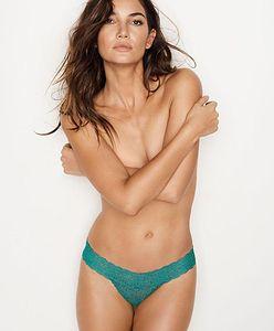 Lily Aldridge w najnowszej sesji dla Victoria's Secret. Pozuje topless i gra w zielone