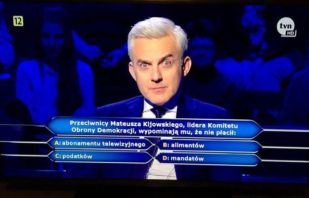 """To pytanie naprawdę padło w """"Milionerach"""". Internauci pokładają się ze śmiechu"""