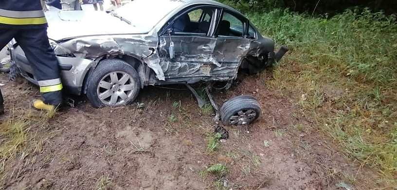 Wypadek w Dąbrówce Leśnej w Wielkopolsce. Wśród poszkodowanych są dzieci