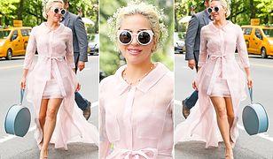 Lady Gaga cała w słodkich pastelach!