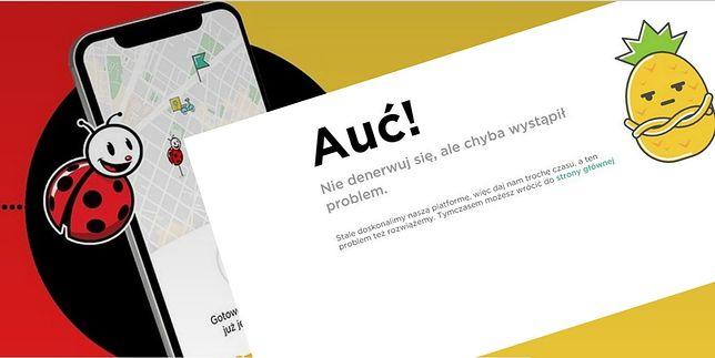 Taki komunikat mogą zobaczyć użytkownicy Glovo, którzy chcieli zrobić zakupy w warszawskich Biedronkach.