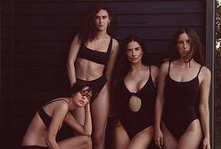 Dziś Demi Moore ma 58 lat. Reklamuje bikini z córkami