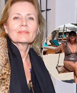 Grażyna Szapołowska w kostiumie kąpielowym. 68-letnia gwiazda może pochwalić się świetną figurą