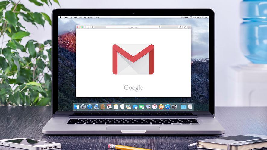 Gmail na MacBooku z depositphotos