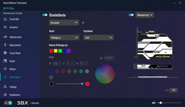 Oprogramowanie związane z Creative Sound BlasterX AE-5 Plus Pure Edition, fot. materiały prasowe.