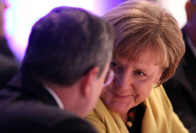 Angela Merkel i Mario Draghi, szef Europejskiego Banku Centralnego
