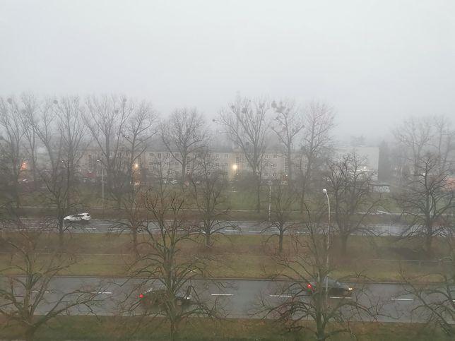 Smog w Warszawie w czwartek 9 stycznia 2020 r.