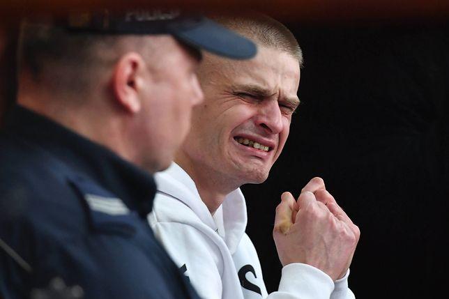 Na zdjęciu uchwycony moment, w którym Tomasz Komenda dowiedział się, że wychodzi na wolność