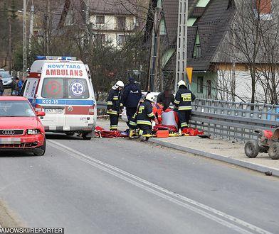 Chłopiec został przetransportowany do szpitala bezpośrednio po wypadku