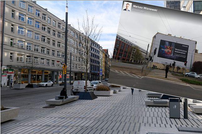 Poznań. Wielka reklama na kamienicy. Reaguje wiceprezydent i koreański koncern