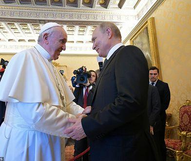 Watykan. Papież Franciszek przyjął na audiencji Władimira Putina