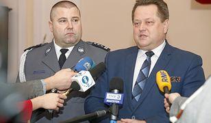 Szef podlaskiej policji Daniel Kołnierowicz i wiceminister Jarosław Zieliński