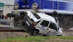 Crash test na przejeździe