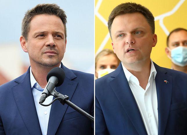 Wspólne wystąpienie Szymona Hołowni i Rafała Trzaskowskiego. Relacja na żywo