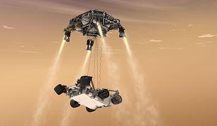 Mars 2020: latający dźwig Sky Crane. Lądowanie łazika Perseverance [Wideo]