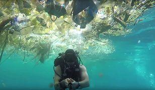 Morze plastiku. Nurek pokazał wstydliwą stronę rajskiej wyspy