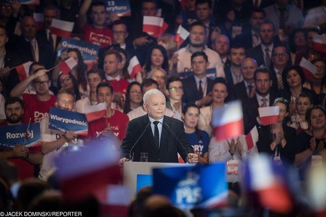 Wybory parlamentarne. Prezes PiS Jarosław Kaczyński