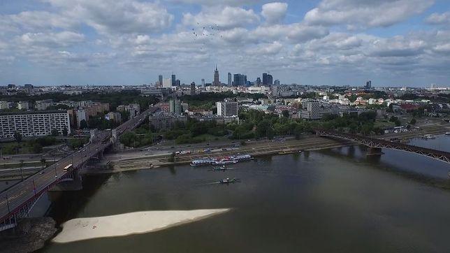 Warszawa z quadcoptera [NIESAMOWITE WIDEO]