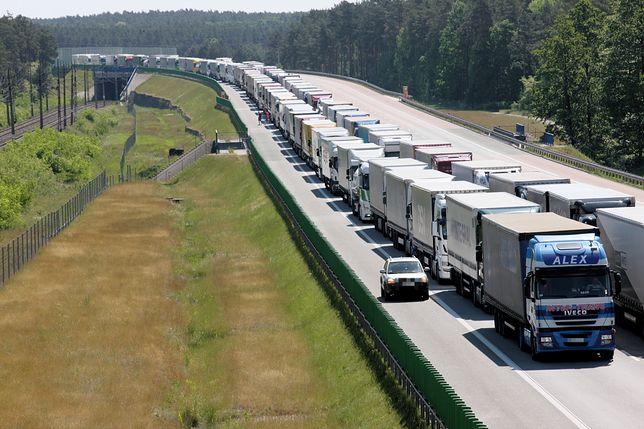 Czterdziestokilometrowy korek na autostradzie A2
