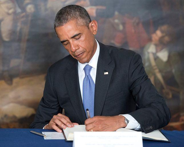 Barack Obama wpisał się do księgi kondolencyjnej