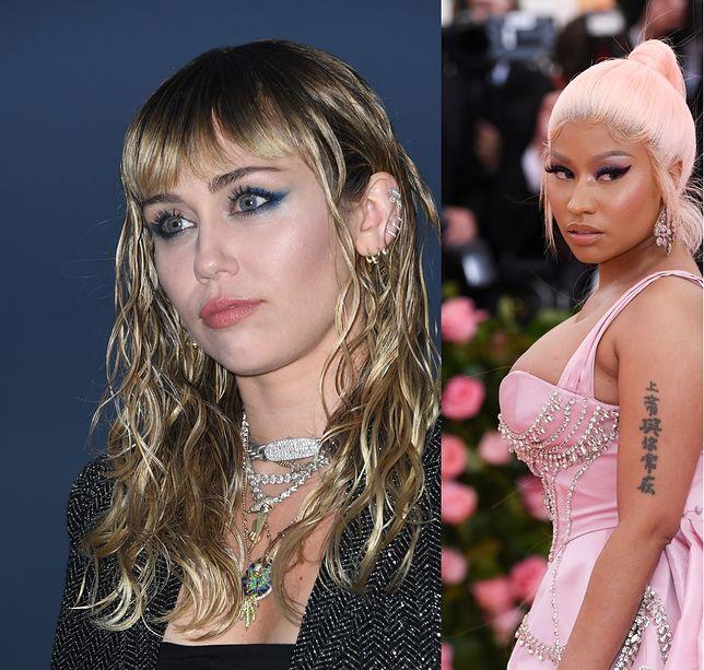 Konflikt pomiędzy Miley Cyrus a Nicki Minaj jest coraz ostrzejszy