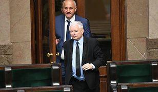 Prezes PiS Jarosław Kaczyński i szef MSWiA Joachim Brudziński