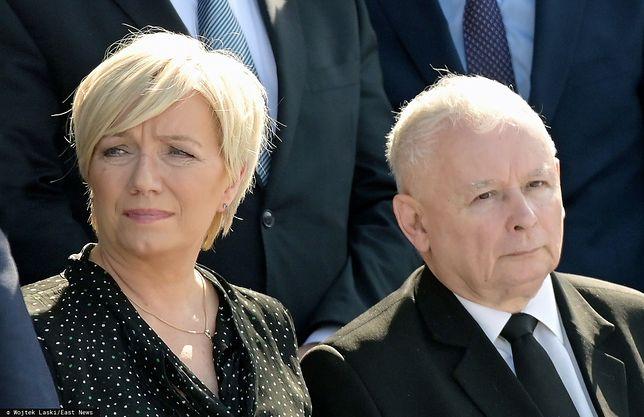 Prezes TK Julia Przyłębska oraz prezes PiS Jarosław Kaczyński